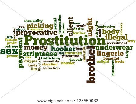 Prostitution, Word Cloud Concept