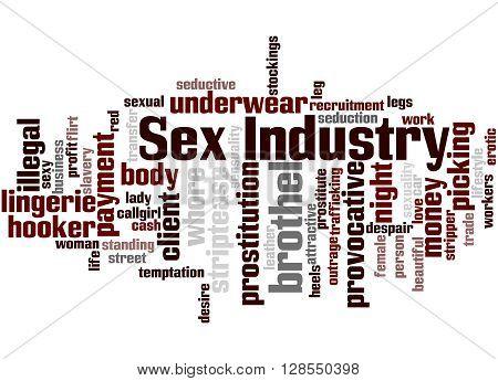 Sex Industry, Word Cloud Concept