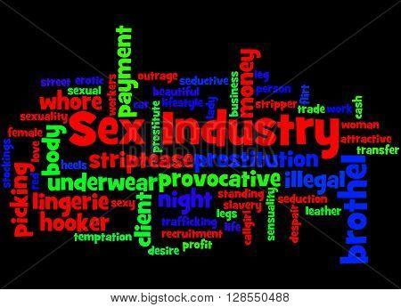 Sex Industry, Word Cloud Concept 8