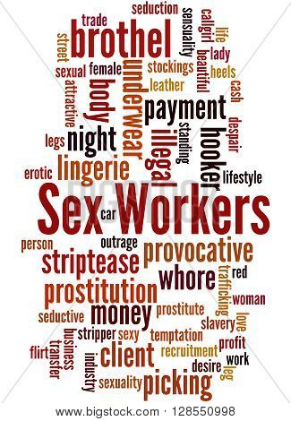 Sex Workers, Word Cloud Concept