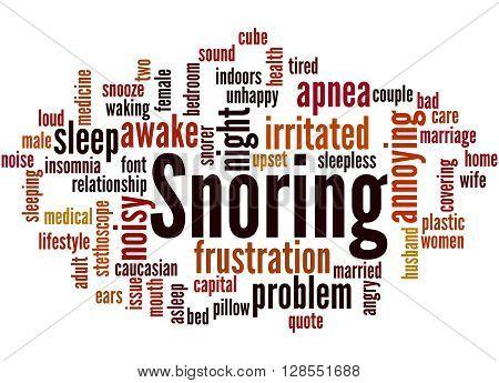 Snoring, Word Cloud Concept