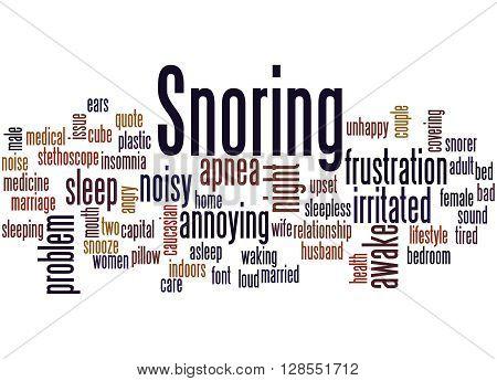 Snoring, Word Cloud Concept 2