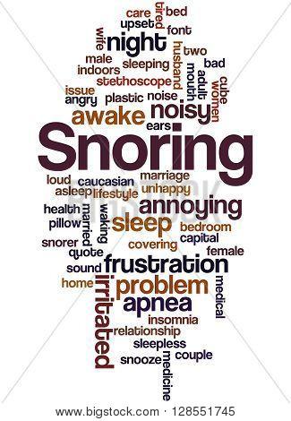Snoring, Word Cloud Concept 4