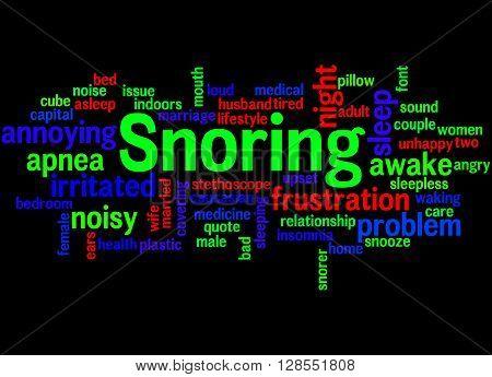 Snoring, Word Cloud Concept 7