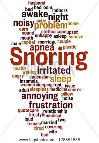 Snoring, Word Cloud Concept 9