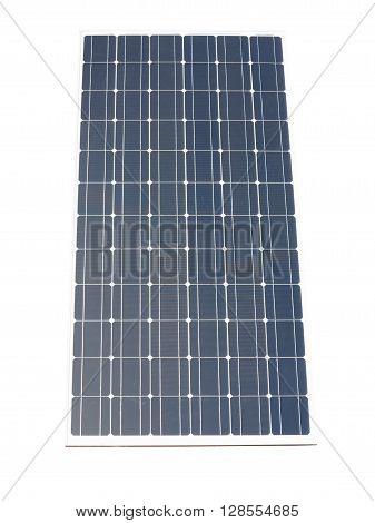 Blue solar panel isolated over white background