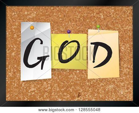 God Bulletin Board Theme Illustration