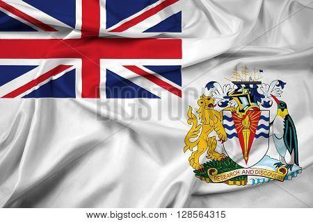 Waving Flag of the British Antarctic Territory poster