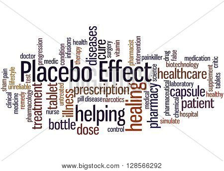 Placebo Effect, Word Cloud Concept