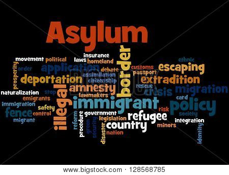 Asylum, Word Cloud Concept 3