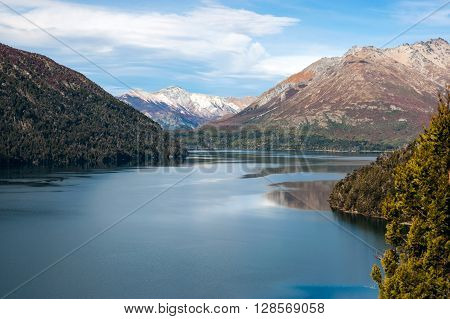 Autumn colors in Bariloche Lake district, Patagonia, Argentina