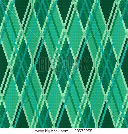 Seamless Rhombic Pattern In Emerald