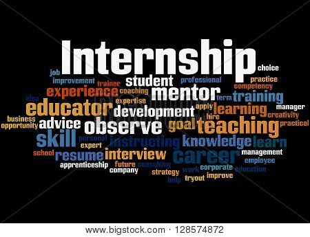 Internship, Word Cloud Concept 2