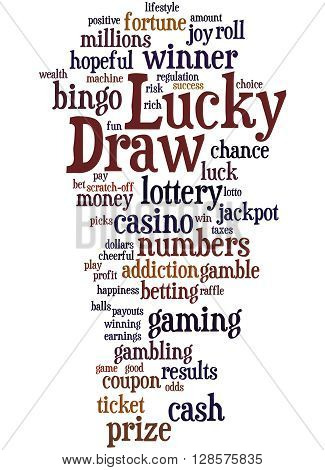 Lucky Draw, Word Cloud Concept 2