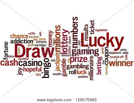 Lucky Draw, Word Cloud Concept 7