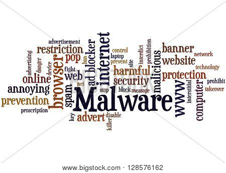 Malware, Word Cloud Concept 3