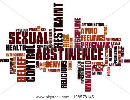 Sexual Abstinence, Word Cloud Concept