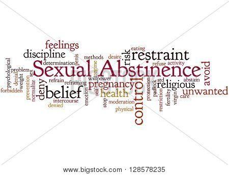 Sexual Abstinence, Word Cloud Concept 8