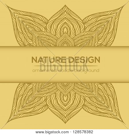 Vector Nature Decor For Your Design With Abstract Flowers.