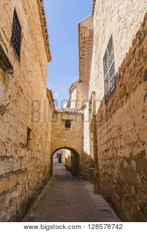 Ancient Alley With Arc In Baeza