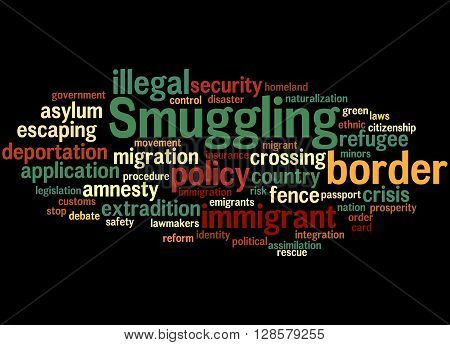 Smuggling, Word Cloud Concept 5
