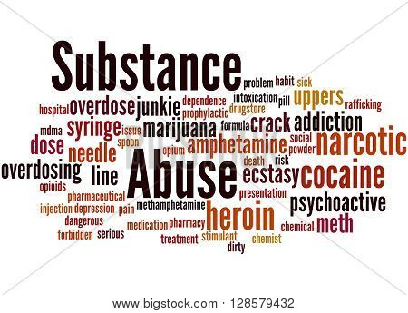 Substance Abuse, Word Cloud Concept 3