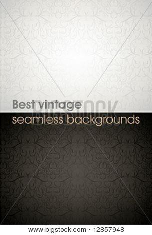 Seamless wallpaper pattern, black, white