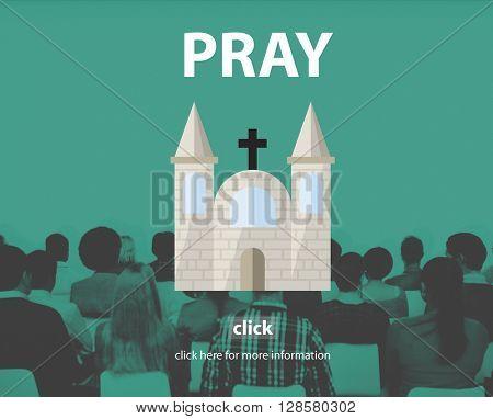 Pray Prayer Religion Spiritual Confession Faith Concept