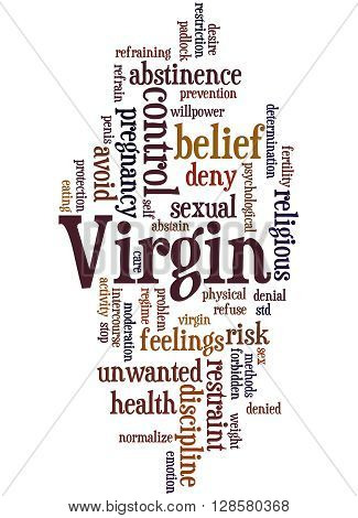 Virgin, Word Cloud Concept