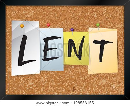 Lent Bulletin Board Theme Illustration