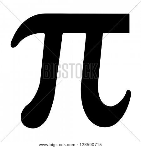 Illustrated black Pi symbol