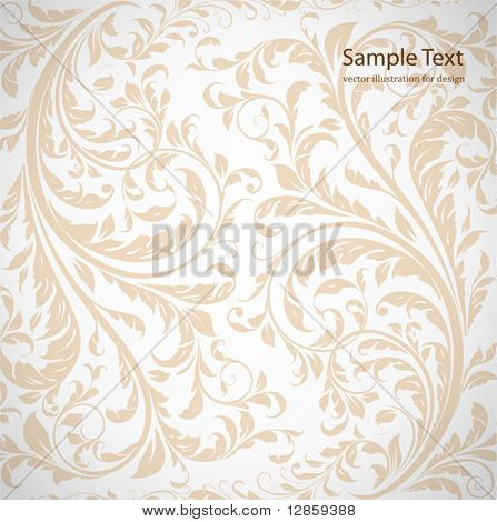 Seamless wallpaper pattern, white