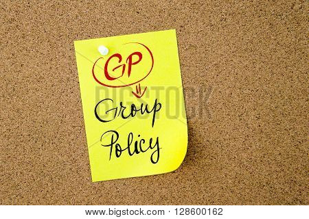 Business Acronym Gp Group Policy