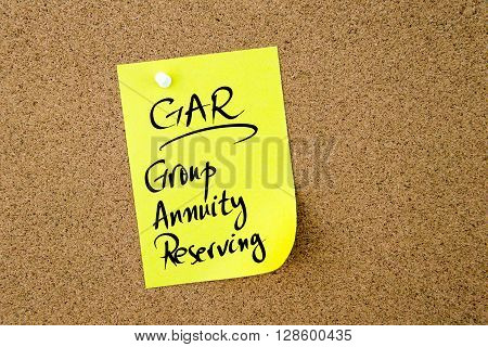 Business Acronym Gar Group Annuity Reserving