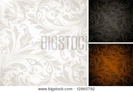 Seamless Wallpaper set, Vector Colorful Background