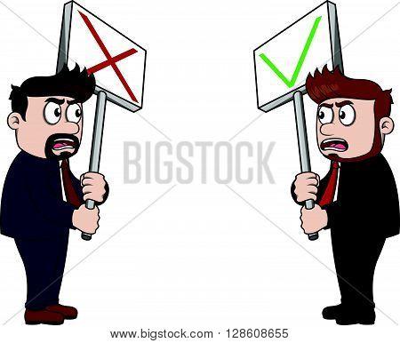 employee dissent carton illustration .eps10 editable vector illustration design