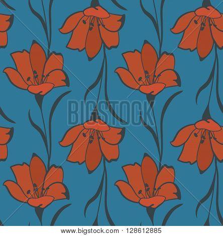 Seamless Flower  Buttercup  Pattern. Summer background garden