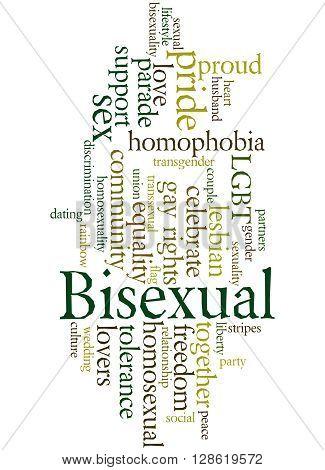 Bisexual, Word Cloud Concept 7