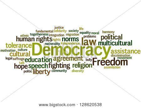 Democracy, Word Cloud Concept 2