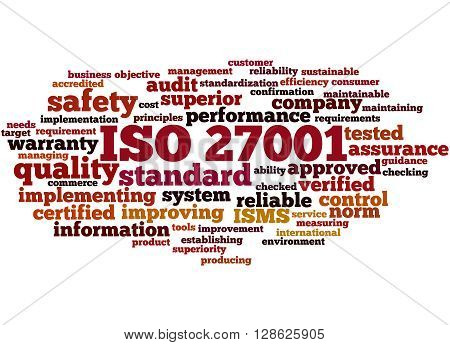 Iso 27001 - Information Security Management, Word Cloud Concept