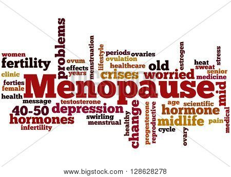 Menopause, Word Cloud Concept 9