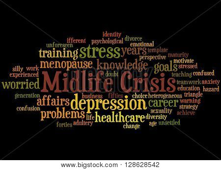 Midlife Crisis, Word Cloud Concept 2