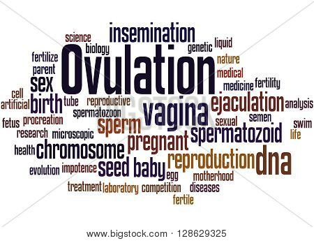 Ovulation, Word Cloud Concept 3