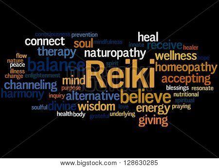 Reiki, Word Cloud Concept 5