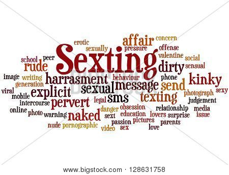 Sexting, Word Cloud Concept 6