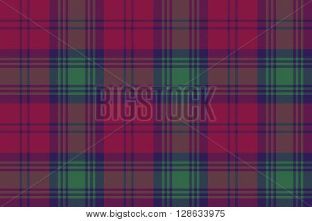 Lindsay tartan fabric textile check pattern seamless .Vector illustration. EPS 10. No transparency. No gradients.