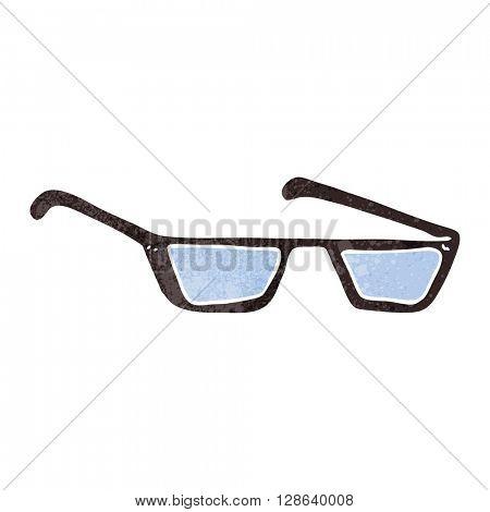 freehand retro cartoon spectacles