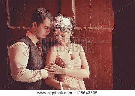 Pretty Embracing Couple