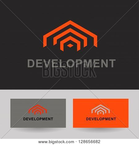 Business Icon -  Real estate building CEO business company. Vector logo design template.  Business logo template for Real Estate, brokerage, building, renovation businesses. Business graphics.
