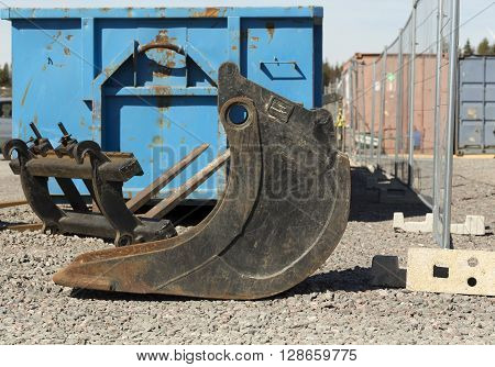 Bucket From The Side And Flatbed
